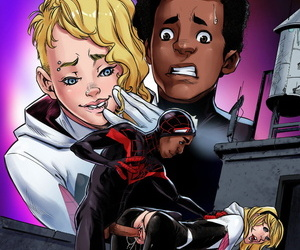manga Weaving Fluids #3, gwen stacy , miles morales , blowjob , anal
