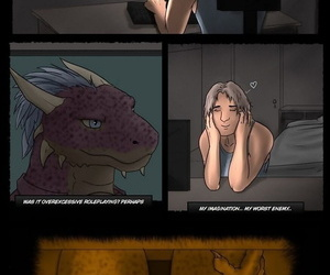manga Argonian Nights, furry  transformation