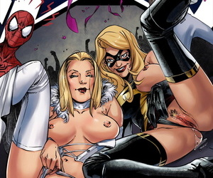 manga Tracy Scops Bayushi A vs X, spider-man , emma frost , blowjob , anal