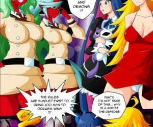 manga Panty & Stocking Angels vs Demons, breast expansion , Futanari  bukakke