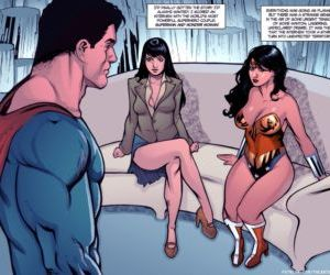 manga Supertryst, threesome , superheroes  pregnant