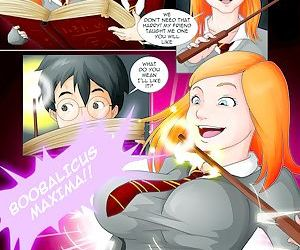 manga Harry Potter And The Forbidden Spells, breast expansion , threesome  Futanari