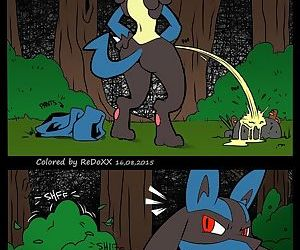 manga A Wild Lucario Appears, furry  pokemon