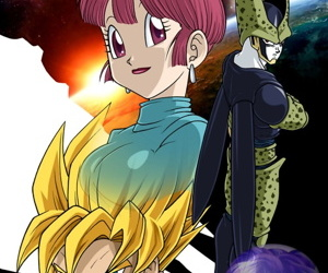 manga CELL GAMES, chi chi , cell , western , big breasts  dragon-ball