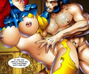 manga X-Men - part 4, superheroes  orgy