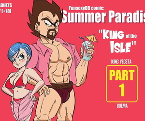 manga FunsexyDB Summer Paradise: King of the.., bulma briefs , king vegeta , western , sole female  bikini