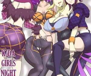manga K/DA Girls Night, ahri , evelynn , western , big breasts  big-breasts